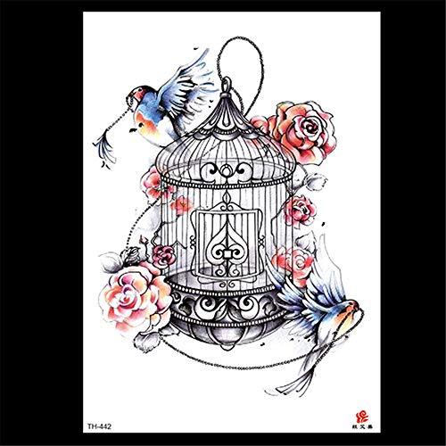 Handaxian autoadesivo del tatuaggio di 3pcs-new flower tattoo autoadesivo del tatuaggio di commercio estero one-time 3pcs-6