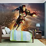 Iron Man Marvel Avengers - Forwall - Fototapete - Tapete - Fotomural - Mural Wandbild - (463WM) - XL - 208cm x 146cm - VLIES (EasyInstall) - 2 Pieces