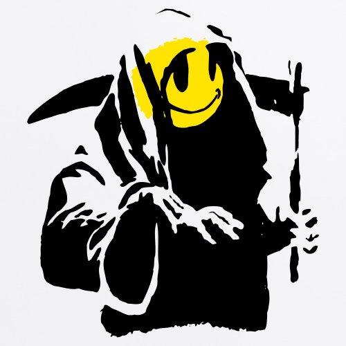 Banksy Street Reaper T-Shirt, Herren Wei