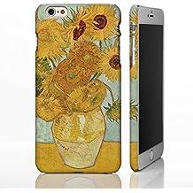 Carcasa para iPhone, diseño de colección de arte clásico de artistas famosos, plástico, Sunflowers - Vincent Van Gogh, iPhone 6 / 6S