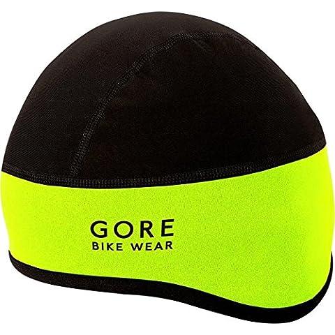 GORE BIKE WEAR Cycling Helmet Cap, GORE WINDSTOPPER, UNIVERSAL WS Helmet Cap, Size 60-64, Neon Yellow/Black,
