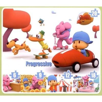 Clementoni - Puzzle Pocoyo Progresivo (6+9+12+18+20) 91169.1 de Clementoni