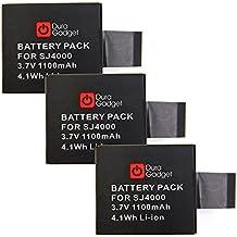 DURAGADGET ¡PAQUETE TRIPLE! 3 X Baterías Recargables Para SJCAM SJ5000X / Elite | SJ4000+ | SJ X1000 - 3.7V 900mAh