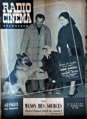 RADIO CINEMA TELEVISION [No 159] du 01/02/1953 par COLLECTIF