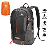 CAMEL CROWN 40L Hiking Trekking Rucksack Backpack with Rain Cover, Waterproof Durable Camping