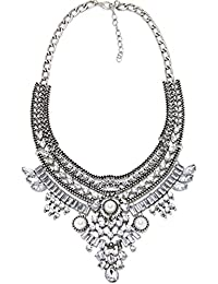Contever® Joyero y Perfecta Collar de la Declaración del Babero para Mujer (Oro)