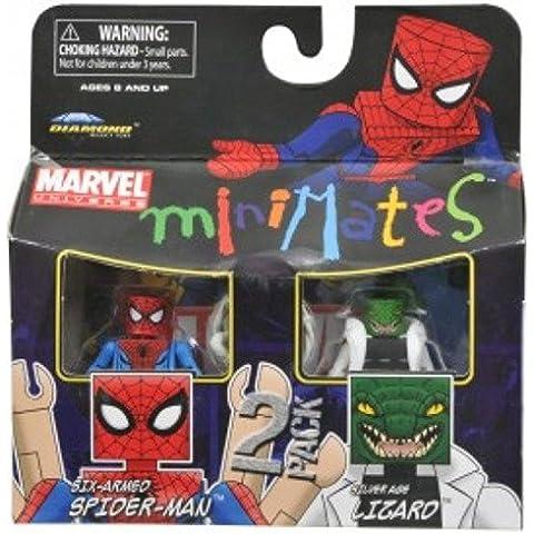 Marvel Minimates Series 37Mini figura 2Pack Spiderman Lagarto