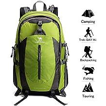 Camel Crown 40L Senderismo Mochila Ligero Viaje Packable Durable Impermeable Deportes Daypack para Acampar Viaje de