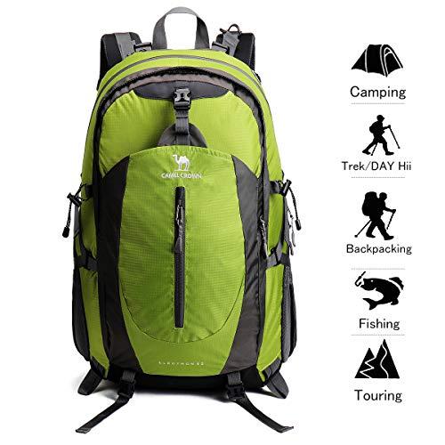42dd56e57544e Camel Crown 40L Senderismo Mochila Ligero Viaje Packable Durable  Impermeable Deportes Daypack para Acampar Viaje de