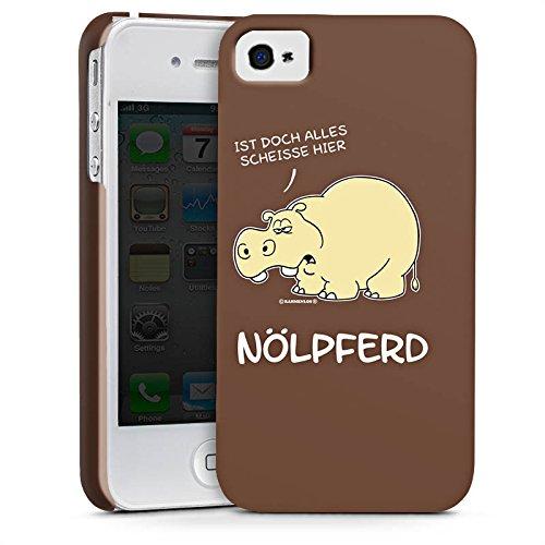 Apple iPhone 6 Silikon Hülle Case Schutzhülle Nilpferd Lustig Nölpferd Premium Case glänzend
