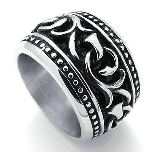 daesar-stainless-steel-rings-mens-wedding-bands-silver-black-rings-men-rings-branch-pattern-rings-uk