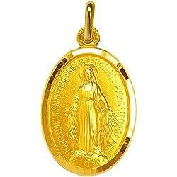 1000 médailles de baptême Médaille Miraculeuse facettée (plaqué Or)