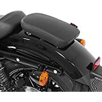 Selle Pouf passager à Ventouses pour Harley Davidson Sportster Forty-Eight 48 (XL 1200 X) Craftride Glider X noir