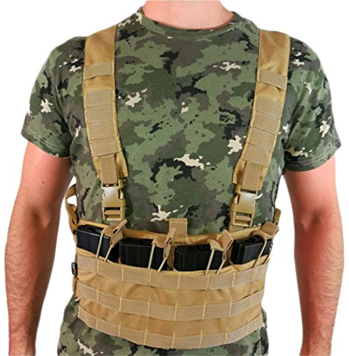Oslotex Light Chest Rig Chaleco Táctico de Airsoft, Unisex Adulto, Co