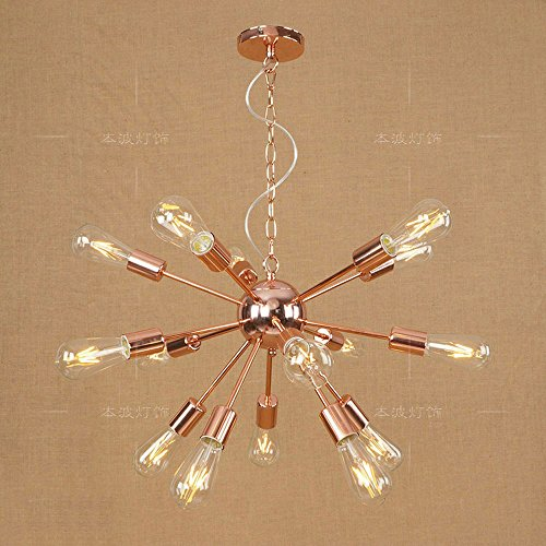 XSPWXN Plafoniere Lampade Vintage Industrial Metal ciondolo luce, moderno plafoniera a casa, Lampadario a sospensione luce lampadari (Size : Fifteen heads)