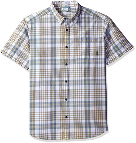 Columbia Herren Grid (Columbia Men's Thompson Hill Ii Yarn Dye Shirt, British Tan Grid, Small)