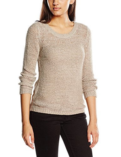 Only Onlgeena XO L/S Pullover Knt Noos - Felpa Donna, colore grigio (silver), taglia  XS