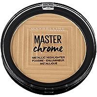 Maybelline Master Chrome Polvos amplificadores de luz, 9 g, 100 Molten Gold