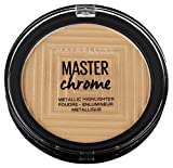 Maybelline New York Terra Viso Illuminante Master Chrome, Formula in Polvere, 100 Molten Gold, 9 gr