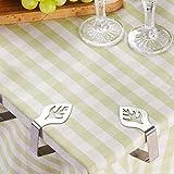 Tischdecke Clips 4dekorativer Edelstahl Tischdecke Clips–Leaf Design, Tischdecke klemmerheftung, Tisch, Klemmen Tisch Tuch Halter für Home Picknick Grill Hochzeit DIY Party - 6