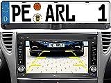 Lescars Rückfahrcamera: Rückfahrkamera & Einparkhilfe mit Abstandswarner, Nummernschildhalter (Rückfahrt Kamera)