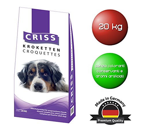 Criss cane 20kg - crocchette per cani - made in germany - cibo secco, mangime sano, alimento completo per cani, alta qualità - sacco da 20000 gr