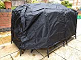 Speedwellstar 170 CM Medium Garden Furniture Cover Breathable Quality Fitted Rectangle Elastic Table (Medium) 4-6 Seater Patio Dining Set Large
