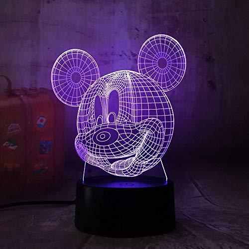 XXIONG LED Chelsea Football Club 3D Nachtlicht Kreative Elektrische Illusion Lampe 7 Farben Ändern USB Touch Schreibtischlampe -