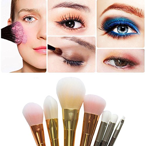 7 Stück/ 1 Stück Professionelle Make Up Pinsel Powder Foundation Bürste Blush Eyeshadow Lidschatten Kosmetik Pinsel Make Up Brush Set Molie - Hypoallergene Flüssige Foundation