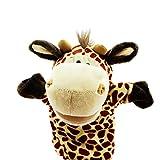 Naisidier burattini da Mano Bambini Genitore-Bambino Mano Puppet Morbidi Giocattoli di Peluche (Giraffa Gialla) burattini a Dito