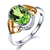 100% Naturales Piedra preciosa Verde Turmalina Piedra preciosa Nupcial...