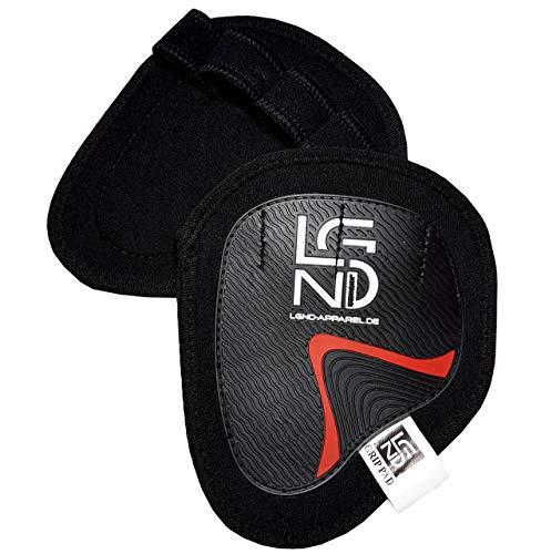 LEGEND - Fitness Grip-Pads für Crossfit, Gewichtheben und Kraft-Sport - Gummierung für maximalen Halt - Alternative zu Fitness Handschuhe & Trainingshandschuhe