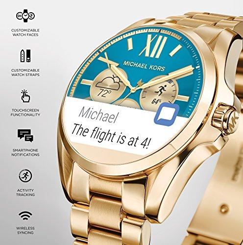 ad7db4d9812d Michael Kors Access Touch Screen Rose Gold Acetate Bradshaw Smartwatch  MKT5013
