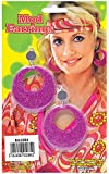 Fancy Dress Pink Mod Glitter Earrings