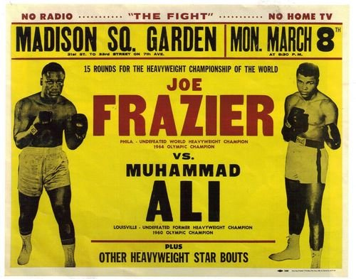 Muhammad Ali Joe Frazier Madison Square Garden Boxing Poster A3 Print