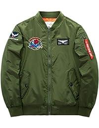 JIINN Herren Verschiedene Stile Klassisch Fliegerjacke Frühling Herbst  Mantel Jacke Militärjacke Bomberjacke Draussen Übergangsjacke Mens Casual 7ab4fd5ef1