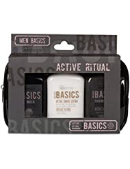 IDC INSTITUTE Basics Cosmetic Bag Set de Bain pour Homme 4 Pièces