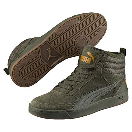 Puma Unisex-Erwachsene Rebound Street V2 SD FUR Hohe Sneaker, Grün Forest Night-Buckthorn Brown 02, 42 EU