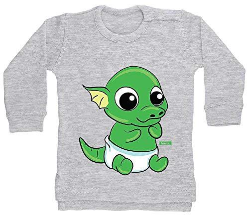 Ei Kostüm Voll - HARIZ Baby Pullover Baby Drache Schlüpft Aus Ei Tiere Kindergarten Plus Geschenkkarten Bleistift Grau 12-18 Monate