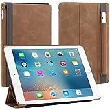 """StilGut Couverture Case, Hülle aus feinstem Leder mit Pencil Halter für das Apple iPad Pro 9,7"""" , Cognac Vintage"""