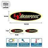 Aufkleber Aufkleber Oval Akrapovic Hoch Temperatur Laminat Druck- Digital hochwertig Rohr Auspuff 3 Einheiten