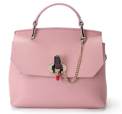 Xinmaoyuan Borse donna Borse in pelle di moda spalla platino borsa messenger in pelle morbida borsa Rosa