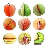 Bloc-Notes Mémo Stationnaire Pour L'Écriture De Légumes Fruits 3D - Poire Verte
