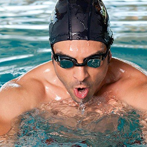 wim Cap Stoff Wasserdichte Schwimm-Hut für lange, dicke, oder lockiges Haar für erwachsene Männer Frauen (With Nose Clip Ear Plugs) (Dreadlock-hüte Für Männer)