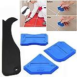 4pz Kit di attrezzi per sigillatura giunti sigillante silicone raschietto per intonaco applicatore