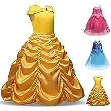 Disfraz de Bella para niñas, disfraces de princesa, para Halloween, para niñas de