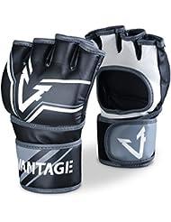 """Guantes de MMA Vantage """"combat"""" - Black-x-Large"""