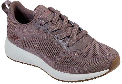 Skechers Damen Bobs Squad - Glam League Sneaker, ((Mauve Engineered Knit/Rose Gold Trim Mve), 4 EU -