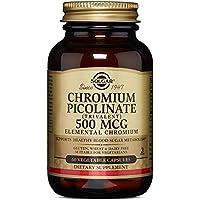 Solgar Chromium Picolinate 500 mcg Vegetable Capsules, 60 V Caps 500 mcg