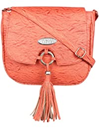 TYPIFY Leatherette PU Cross Body Sling Bag For Women And Girls College Office Handbag/Metal Ring Tassel Stylish...